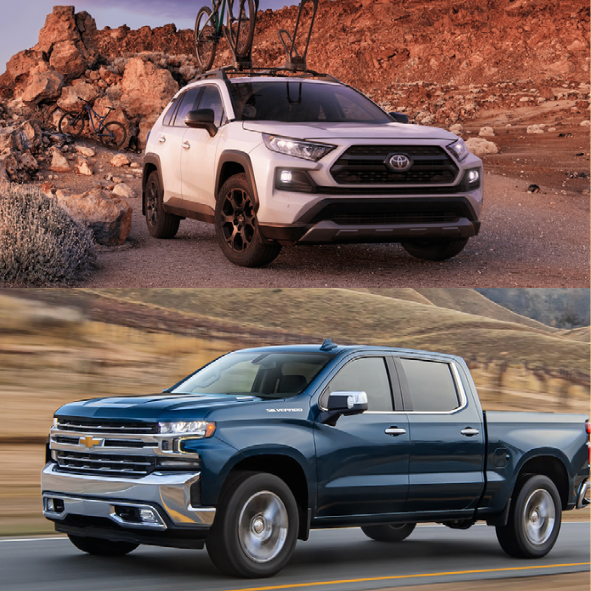 Bestselling Cars, Trucks and SUVs of 2020